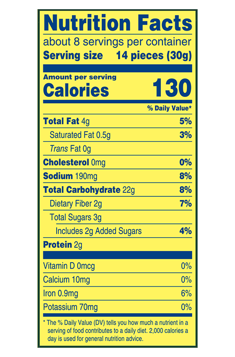 Wheat Thins Multigrain Snacks Nutrition